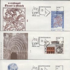 Selos: 1990 ED 3069/72 CENTENARIOS , ALFIL SOBRE PRIMER DIA SPD. Lote 221249796