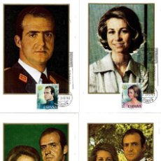 Sellos: DON JUAN CARLOS I Y DOÑA SOFIA REYES DE ESPAÑA 1975 (EDIFIL 2302/05) EN CUATRO TM PD MADRID. MPM.. Lote 221478275