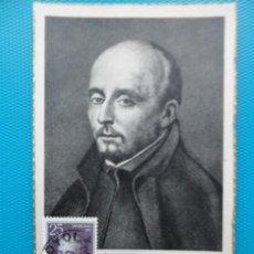 Sellos: 1955-ESPAÑA-TARJETAS MAXIMA-IV CENTENARIO DE LA MUERTE DE SAN IGNACIO DE LOYOLA. Lote 221663547