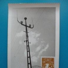 Sellos: 1955-ESPAÑA-TARJETAS MAXIMA-I CENTENARIO DEL TELEGRAFO. Lote 221664067