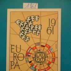 Sellos: 1961-ESPAÑA-TARJETAS MAXIMAS-EUROPA. Lote 221685306