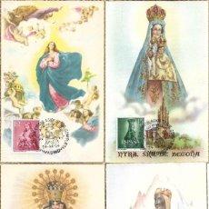 Sellos: RELIGION AÑO MARIANO 1954 VIRGENES (EDIFIL 1132/41) EN DIEZ TM PRIMER DIA. MUY RARO CONJUNTO.. Lote 221774613