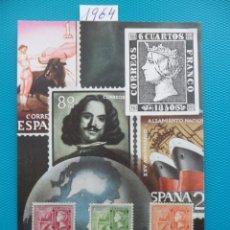 Sellos: 1964-ESPAÑA-TARJETAS MAXIMAS-SERIE COMPLETA-DIA MUNDIAL DEL SELLO. Lote 222003757
