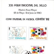 Sellos: 1980-ESPAÑA-TARJETAS MAXIMAS-FERIA NACIONAL DEL SELLO. Lote 222219133