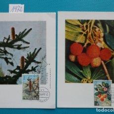 Sellos: 1972-ESPAÑA-TARJETAS MAXIMAS-FLORA. Lote 222567147