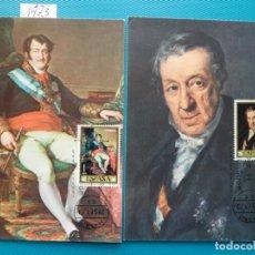 Sellos: 1973-ESPAÑA-TARJETAS MAXIMAS-PINTOR-VICENTE LOPEZ PORTAÑA-SERIE COMPLETA (8TARJETAS). Lote 222574043
