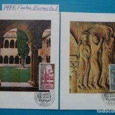 Sellos: 1973-ESPAÑA-TARJETAS MAXIMAS-MONASTERIO DE SANTO DOMINGO DE SILOS-FECHA BURGOS. Lote 222574897