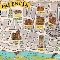 Sellos: ESCUDO DE PALENCIA 1965 MATASELLOS MADRID (EDIFIL 1631) TM PRIMER DIA MAPA DE PALENCIA RARA ASI. WXZ. Lote 223209183