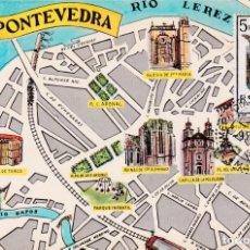 Sellos: ESCUDO DE PONTEVEDRA 1965 MATASELLOS MADRID (EDIFIL 1632) TM PRIMER DIA MAPA PONTEVEDRA RARA ASI WXZ. Lote 223684672