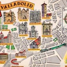 Sellos: ESCUDO DE VALLADOLID 1966 MATASELLOS MADRID (EDIFIL 1698) TM PRIMER DIA MAPA VALLADOLID RARA ASI WXZ. Lote 223911841