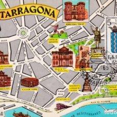 Sellos: ESCUDO DE TARRAGONA 1965 MATASELLOS MADRID (EDIFIL 1640) TM PRIMER DIA MAPA TARRAGONA. RARA ASI. WXZ. Lote 225752810