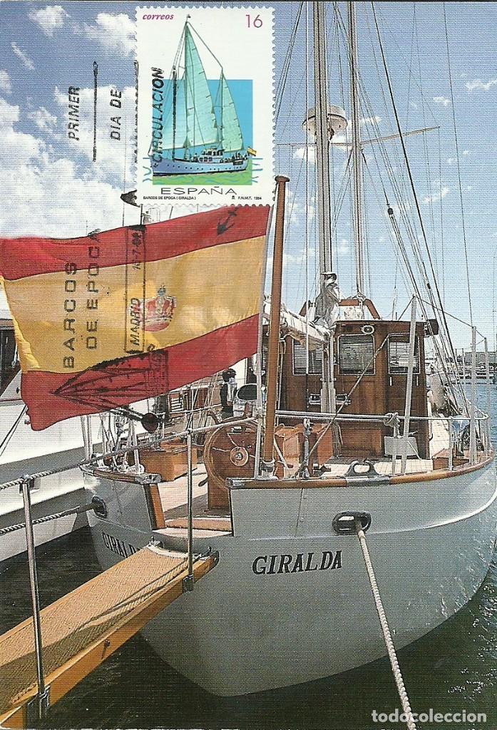 TARJETA MAXIMA ESPAÑA EDIFIL 3314 DEL VELERO GIRALDA - NAUTICA- (Sellos - España - Tarjetas Máximas )