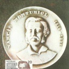 Sellos: TARJETA MÁXIMA ESPAÑA DE NARCISO MONTURIOL EDIFIL 2881- PERSONAJES-. Lote 226161825