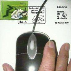 Sellos: TARJETA MÁXIMA ESPAÑA DE UN RATÓN INFORMATICO EDIFIL 4640. Lote 226226865