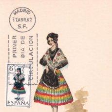 Sellos: TRAJE DE ALMERIA TRAJES TIPICOS ESPAÑOLES 1967 (EDIFIL 1770) EN TARJETA MAXIMA PRIMER DIA DE MF.. Lote 226364740