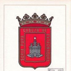 Sellos: ESCUDO DE SORIA 1965 MATASELLOS PROVINCIA (EDIFIL 1639) EN TARJETA MAXIMA PRIMER DIA. MPM.. Lote 226366262