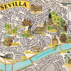 Sellos: ESCUDO DE SEVILLA 1965 MATASELLOS MADRID EDIFIL 1638 TARJETA MAXIMA PRIMER DIA MAPA SEVILLA RARA WXZ. Lote 226783440