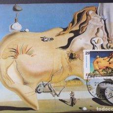 Selos: TARJETA MÁXIMA - SALVADOR DALÍ: EL GRAN MASTURBADOR MADRID 1994 PINTURA. Lote 227578190