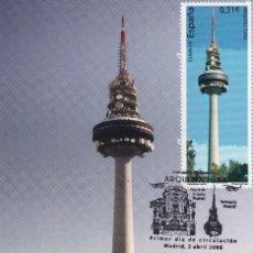Sellos: EDIFICIO TORRESPAÑA ARQUITECTURA 2008 (EDIFIL 4404) EN TM PRIMER DIA MATASELLOS CUÑO MADRID RARA ASI. Lote 139739670