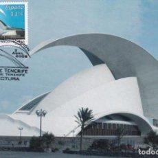 Sellos: AUDITORIO DE TENERIFE ARQUITECTURA 2008 (EDIFIL 4406) TM PD MATASELLOS SANTA CRUZ TENERIFE (CANARIAS. Lote 73471751