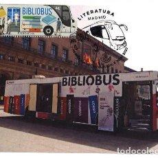 Sellos: TARJETA MÁXIMA BIBLIOBUS (SELLO CORREOS DEL 8 DE JULIO DE 2020) TEMÁTICA TRANSPORTES / LITERATURA. Lote 289418503