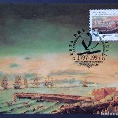 Sellos: TARJETA MÁXIMA - BICENTENARIO DE LA DEFENSA DE TENERIFE 1997. Lote 232454985