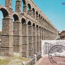 Sellos: ACUEDUCTO DE SEGOVIA ROMA-HISPANIA 1974 (EDIFIL 2184) EN TARJETA MAXIMA MATASELLOS SEGOVIA RARA. WXZ. Lote 224723116