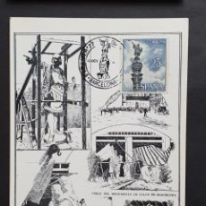 Selos: TARJETA MÁXIMA - MONUMENTO A COLÓN BARCELONA 1965-1977. Lote 232969777