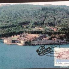 Selos: TARJETA MÁXIMA - CASTILLO DE SAN FELIPE FERROL A CORUÑA 2003. Lote 233157300