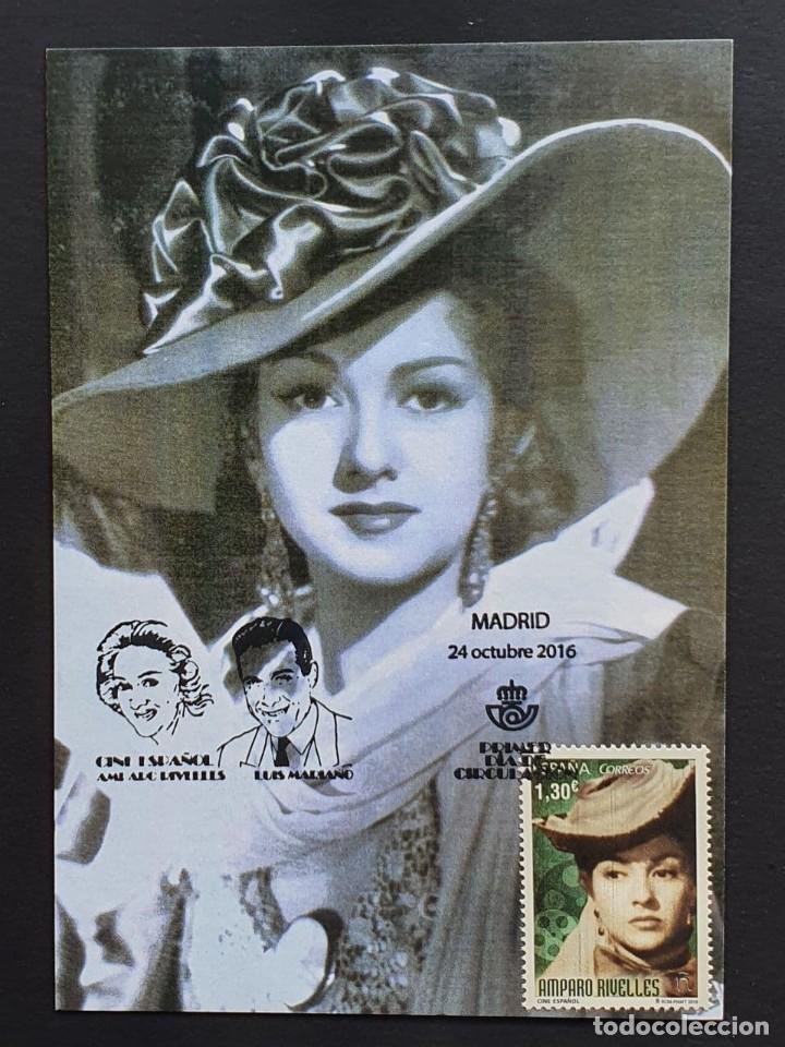 TARJETA MÁXIMA - ACTRIZ: MARÍA AMPARO RIVELLES MADRID 2016 (Sellos - España - Tarjetas Máximas )
