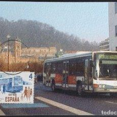 Selos: TARJETA MÁXIMA - UTILICE TRANSPORTES COLECTIVOS; AUTOBÚS DONOSTIA - SAN SEBASTIAN 1980-2001. Lote 233589830