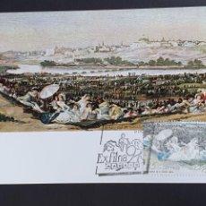 Selos: TARJETA MÁXIMA - EXFILNA: LA PRADERA DE SAN ISIDRO, GOYA MADRID 1991. Lote 233600415