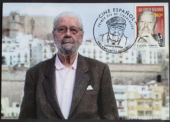 TARJETA MÁXIMA - DIRECTOR DE CINE: LUIS GARCÍA BERLANGA VALENCIA 2011 (Sellos - España - Tarjetas Máximas )