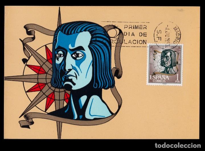 Sellos: Tarjetas Máximas.1963 Cong. Instit. Hispánicas.Serie.Edifil 1513-1515 - Foto 3 - 234916380