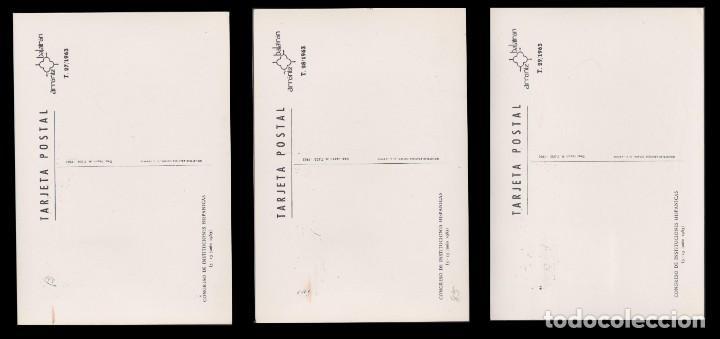 Sellos: Tarjetas Máximas.1963 Cong. Instit. Hispánicas.Serie.Edifil 1513-1515 - Foto 5 - 234916380