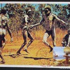 Sellos: TARJETA MÁXIMA PORTUGAL - OS PORTUGUESES NA AUSTRÁLIA: CELEBRAÇÄO ABORIGENE, LISBOA 1999. Lote 236372965