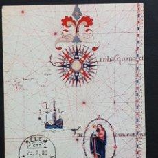 Sellos: TARJETA MÁXIMA PORTUGAL - ILUMINURA DA CARTA DO OCEANO INDICO S. XVII ANÓNIMO, BELEM LISBOA 2000. Lote 236374250