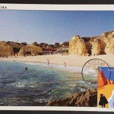 Sellos: TARJETA MÁXIMA PORTUGAL - FÉRIAS EM PORTUGAL, PRAIA DO CASTELO ALGARVE, ALBUFEIRA FARO 2004. Lote 236377080