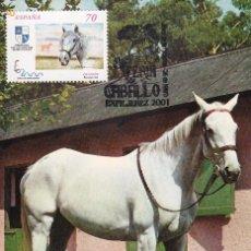 Sellos: CABALLOS CARTUJANOS ESPAÑA 2000 EXPOSICION MUNDIAL 1998 (EDIFIL 3610) TM MATASELLOS JEREZ 2001. RARA. Lote 236547110