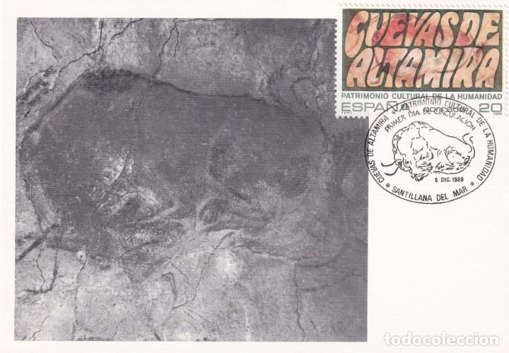 CUEVAS DE ALTAMIRA CANTABRIA PATRIMONIO DE LA HUMANIDAD 1989 (EDIFIL 3039) TM PD SANTILLANA DEL MAR. (Sellos - España - Tarjetas Máximas )