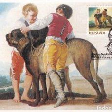 Sellos: PINTURA ESPAÑOLA FRANCISCO DE GOYA Y LUCIENTES 1996 (EDIFIL 3439) EN TARJETA MAXIMA PRIMER DIA. RARA. Lote 241462085