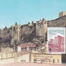 Selos: CASTILLO DE LA ZUDA CASTILLOS 2001 (EDIFIL 3785) EN TARJETA MAXIMA PD MATASELLOS TORTOSA (TARRAGONA). Lote 242182970