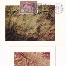 Sellos: PREHISTORIA PINTURAS RUPESTRES EUROPA CEPT 1975 (EDIFIL 2259/60) EN DOS TM PD MATASELLOS MADRID. MPM. Lote 243554630