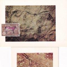 Sellos: PREHISTORIA PINTURAS RUPESTRES EUROPA CEPT 1975 (EDIFIL 2259/60) DOS TM PD MATASELLOS BARCELONA MPM. Lote 243554790
