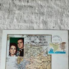Sellos: TARJETA POSTAL 1976 VIAJE REYES REYES HISPANO AMÉRICA MATASELLO MADRID 1976 ESPAÑA. Lote 243603350