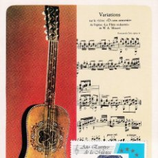 Sellos: FERNANDO SOR AÑO EUROPEO DE LA MUSICA 1985 (EDIFIL 2805) EN RARA TM TORROELLA DE MONTGRI (GERONA).. Lote 243989305