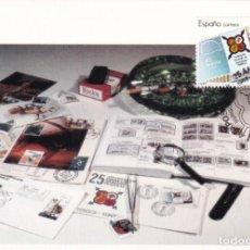 Sellos: EL CID FESOFI 25 XXV ANIVERSARIO FEDERACION ESPAÑOLA 1988 (EDIFIL 2962) TM MATASELLO BURGOS RARA ASI. Lote 244497125