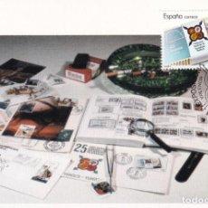 Sellos: FESOFI 25 XXV ANIVERSARIO FEDERACION ESPAÑOLA 1988 (EDIFIL 2962) EN TM MATASELLOS VALENCIA. RARA ASI. Lote 244498655