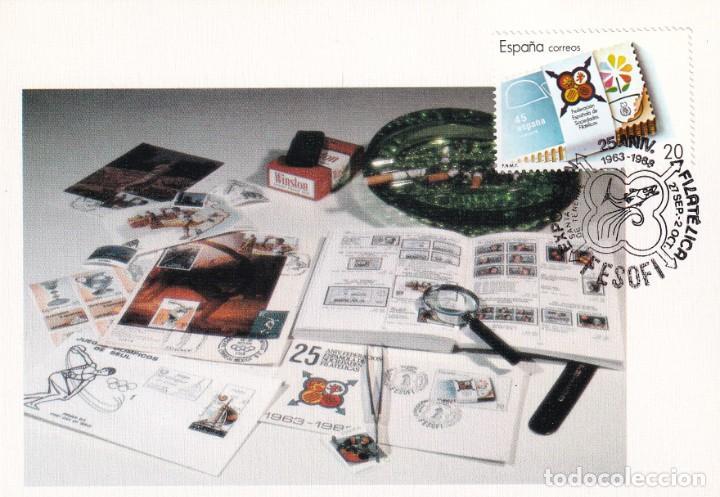 FESOFI 25 XXV ANIVERSARIO FEDERACION ESPAÑOLA 1988 (EDIFIL 2962) TM SANTA CRUZ DE TENERIFE (CANARIAS (Sellos - España - Tarjetas Máximas )