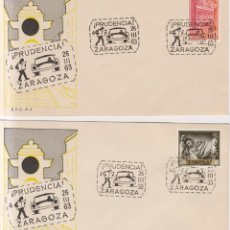 Sellos: AÑO 1963 EDIFIL 1418-1495 2 SOBRES CAMPAÑA DE PRUDENCIA CIRCULACION ZARAGOZA. Lote 245078915